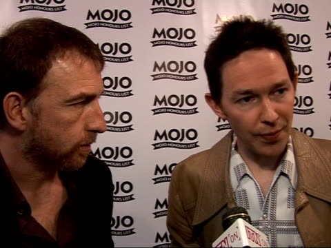 Mojo Awards 2008 ceremony celebrity photocalls and interviews Richard Colburn and Mick Cooke interview SOT On how they got involved in soundtrack for...