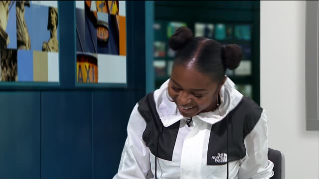 Nadia Rose interview Nadia Rose LIVE interview SOT re performing at Glastonbury CUTAWAYS reporter