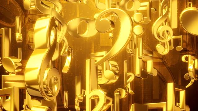 Musica nota pioggia oro