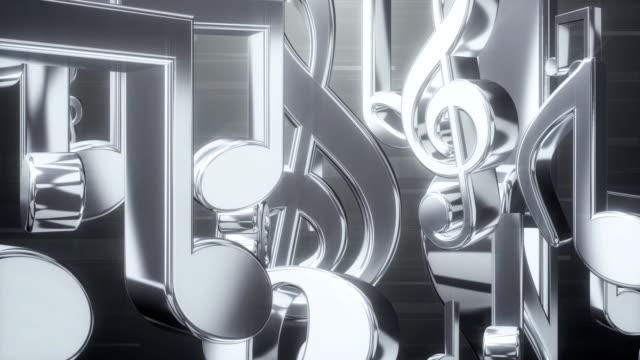 Musik-Hinweis-Roll-Silber