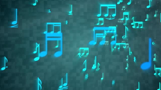 Music Notes Backgorund - Loop
