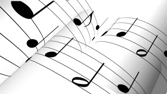 music notes backgound