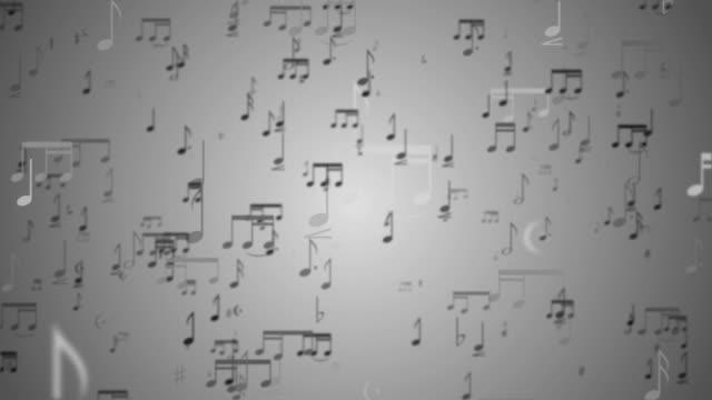 Sfondo di note musicali-Loop
