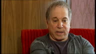 Paul Simon interview Paul Simon interview SOT On touring in the UK / used to live in England for a few years in the 60s / English folk scene On...