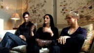 Placebo interview ENGLAND London INT Stefan Olsdal Brian Molko Steve Forrest interview SOT On how new album is not a 'concept' album more like a...