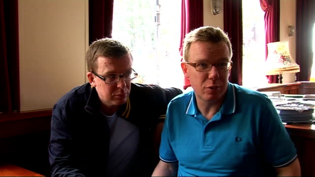 Proclaimers interview ENGLAND London The Lexington INT Charlie and Craig Reid interview SOT Talking about the difficult eighth album / Talking about...