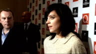 Q Awards 2009 interviews and general views ENGLAND London Grosvenor House Hotel INT General views Lily Allen speaking to press after winning Q Award...