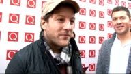 Q Awards 2011 celebrity arrivals / winners room Cardle interview SOT On this year's XFactor finalists / the best artist of the last 25 years Adele /...