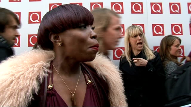Q Awards 2011 celebrity arrivals / winners room Estelle speaking to press Estelle interview SOT On her new album just finished out in January /...