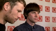 Q Awards 2011 celebrity arrivals / winners room Members of Kaiser Chiefs speaking to press SOT On winning the award / advances in technology /...
