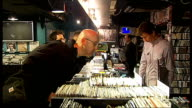 Record Store Day celebrations in Soho INT Phil Barton interview SOT people come in to browse find new things meet people record shops will survive by...