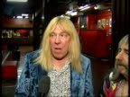 'Spinal Tap' interview developing hand cranked amplifiers / how they all get on / playing Wembley Stadium / on the other big acts playing / new track...