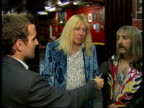 Spinal Tap reform for Live Earth concert interview ENGLAND London INT Spinal Tap LR Michael McKean Harry Shearer and Christopher Guest interviewed...