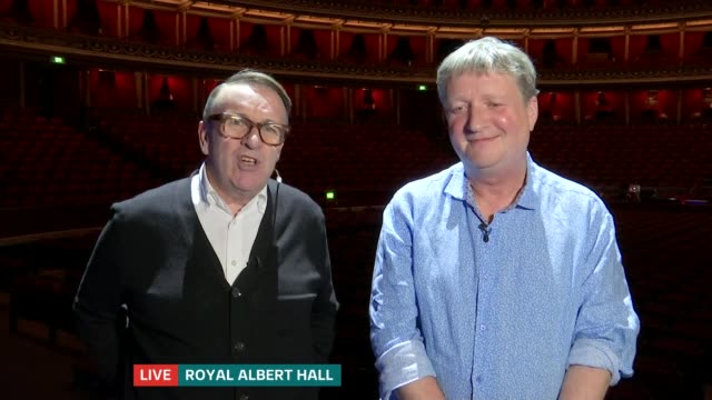 Squeeze release new album Glenn Tilbrook and Chris Difford LIVE 2WAY interview from Royal Albert Hall SOT