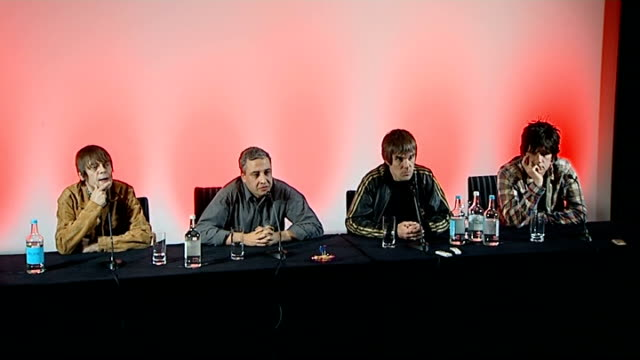 Stone Roses to reform Press conference Mani press conference SOT Never been about the money / stopped every day and asked 'will it happen' Brown...