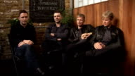 Westlife talk about new single and album ENGLAND London INT Westlife interview SOT Talk about their new single 'Safe' / talks about the single being...