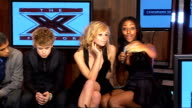 X Factor finalists perform at impromptu gig JLS band member interview SOT comments on Britney's performance Alexandra Burke interview SOT comments on...