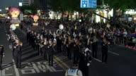 MS Musical band parade on buddha's birthday event on jongro street / Seoul, South Korea