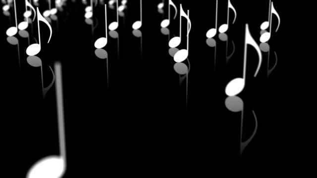 Note musicali ciclo (B & W) Vista laterale-HD