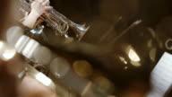 Musiker spielt beim Konzert Französisch Horn