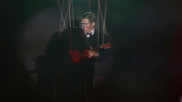 Musiker Puppentheater-Figur