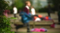'Muslim foster case' girl should rejoin own family judge rules EXT Anonymous blurred shots of schoolchildren playing in school playground/