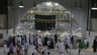 Muslim pilgrims circumambulate the Kaaba at Masjidil Haram in Makkah, Saudi Arabia