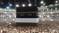 Muslim pilgrims from all around the world arrive at Masjid alHaram to circle counterclockwise Islam's holiest shrine the Kaaba ahead of upcoming Eid...