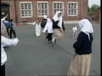 Muslim school's funding C4N North London Islamia School MS Girl skipping in playground school for 411 year olds MS Other girls skipping MS Young boy...