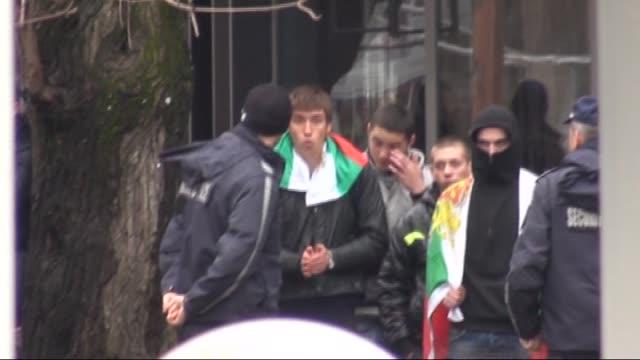 Muslims living in Gotse Delchev gather to protest growing antiIslamic attitudes in Blagoevgrad region in Bulgaria on 28 February 2015