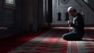 Muslims prayer in mosque