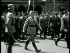Mussolini meets Hitler in Munich