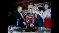 My Fair Lady Fashion show at Hearst Mansion in Palm Springs 1960s Award for composer Frederick Loewe of Lerner and Loewe broadway songwriters George...