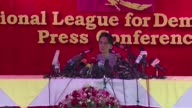 Myanmars democracy heroine Aung San Suu Kyi says she would want a government of national reconciliation if her opposition party wins Sundays landmark...