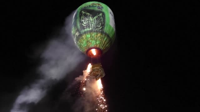 Myanmar's Taunggyi fire balloon festival in which competitors attach fireworks to elaborately decorated hot air balloons draws to a close