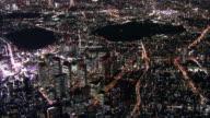 Myriad of lights profiles Shinjuku skyline