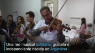 Nadie sabe que habra un concierto pero al primer acorde el aire denso se disipa en este hospital argentino la musica es un remedio que aunque no cure...