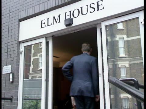 London Elm Street Serious Fraud Office MS George Staple into Elm House PAN LR BV Cars thru security gates BV Man into Elm House ZOOM IN 'Serious...