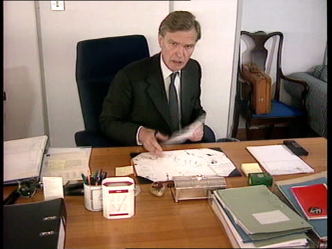 Mates correspondance INT George Staple working at desk MS Ditto MS Ditto ITN CMS George Staple intvwd SOT There is nothing wrong with our operations...