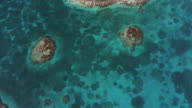Nadir Shot Over Sea To Blue Hole Of Belize