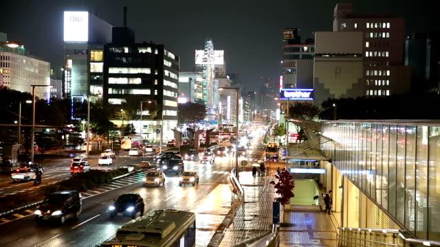 Nagoya cityscape and Pedestrians at Sakae night Japan