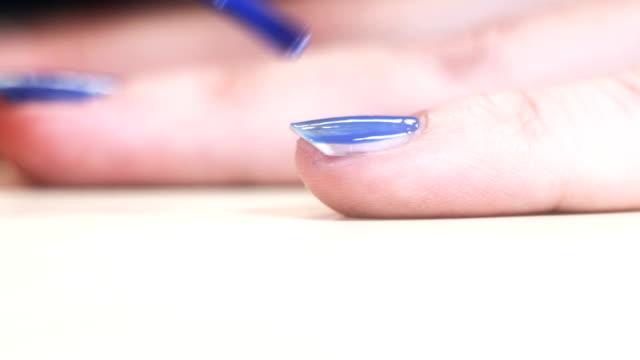 HD: Smalto per unghie lunghe donna unghie-blu