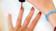 HD: Nail Polish on Long Woman Nails - pink