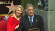 Nancy Mehta and Zubin Mehta at the Zubin Mehta Honored With A Star On The Hollywood Walk Of Fame at Hollywood CA