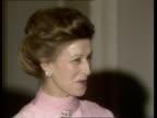 Nancy Reagan host dinner party ENGLAND London US Ambassador's Residence ZOOM IN Nancy Reagan and Ambassador John J Louis Jnr and wife ZOOM IN...