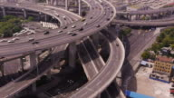 Nanpu Bridge Aerial, Huangpu River, highway, streets, traffic, zoom, Shanghai, China