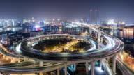 T/L WS HA ZO Nanpu Bridge at Night / Shanghai, China