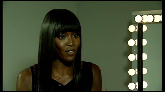 New York INT Naomi Campbell interview SOT