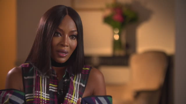 Naomi Campbell talking about incidents of sexual harassment in the fashion industry