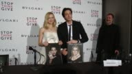Naomi Watts and Adrien Brody sign the book and pose at BVLGARI Partners With Save The Children To Launch STOPTHINKGIVE A Collection Of Celebrity...